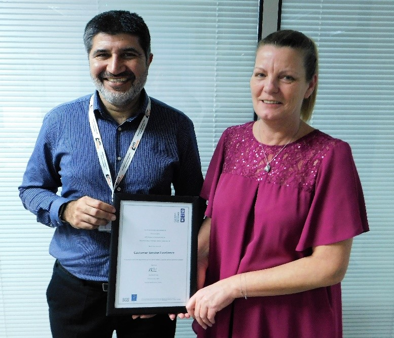 HTS receives Customer Service Excellence award