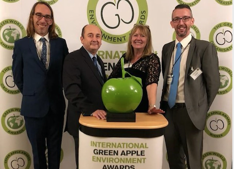 HTS staff win Green Apple environmental Award