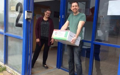 HTS team deliver essential supplies to St Clare Hospice and care organisations!