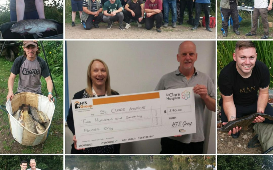 HTS fishing team raises St Clare Hospice a total of £270.00